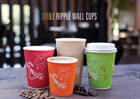 Smile Ripple Wall Cups RBG