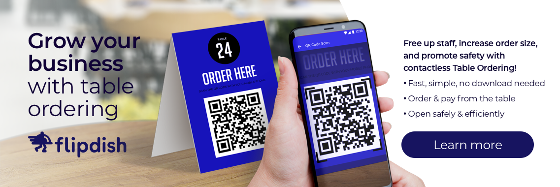 Table Ordering banner